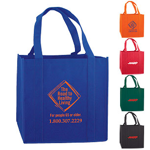 BGW12 - Non-Woven Tote With Bottom Support Insert