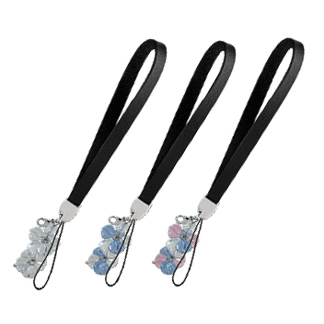 CP01 - Cell Phone Strap With Crystal Beads