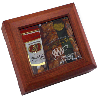 IUA28JA - Deluxe Wooden Box With Jelly Beans and Almonds
