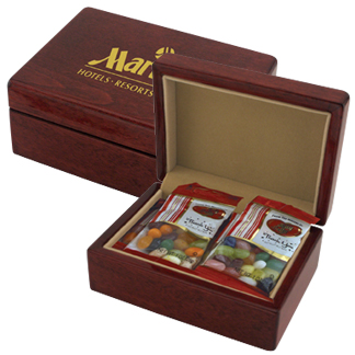 IUN16JB - Deluxe Piano Wood Gift Box With JellyBelly®
