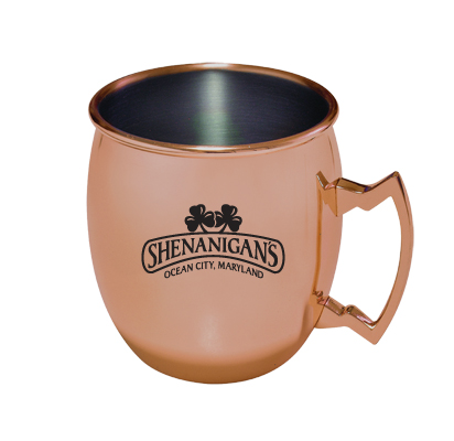 MG43 - Moscow Mule Mug - Copper Plated Stainless Steel