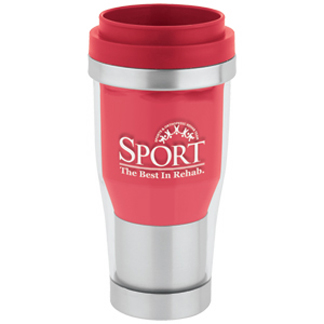 SWST55RD - 16 oz 2-Tone Translucent Tumbler - Red